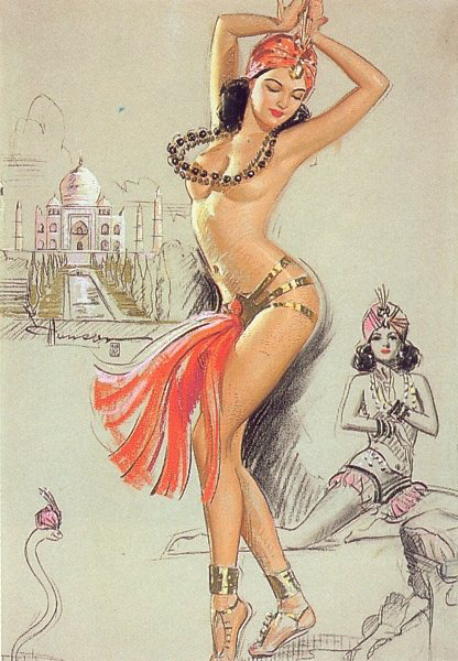 Risque vintage pin up girls